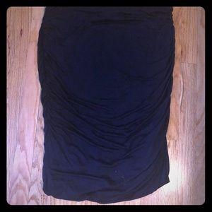 Dresses & Skirts - Navy ruched skirt
